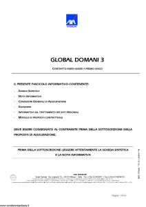 Axa Interlife - Global Domani 3 - Modello axa int 115 Edizione 04-2006 [43P]