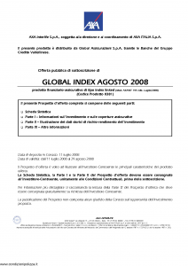 Axa Interlife - Global Index Agosto 2008 - Modello axa int 144 Edizione 11-07-2008 [46P]