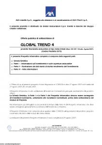 Axa Interlife - Global Trend 4 - Modello axa int 138 Edizione 08-2007 [57P]