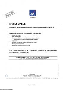 Axa Interlife - Invest Value - Modello axa int 095 Edizione 03-2008 [39P]