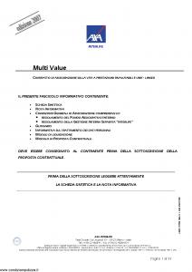 Axa Interlife - Multi Value - Modello axa int 117 Edizione 03-2007 [59P]