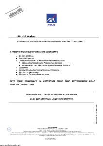 Axa Interlife - Multi Value - Modello axa int 117 Edizione 03-2008 [62P]