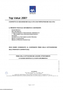 Axa Interlife - Top Value 2007 - Modello axa int 127 Edizione 04-2007 [37P]