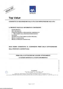 Axa Interlife - Top Value - Modello axa int 103 Edizione 03-2007 [37P]