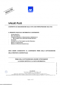 Axa Interlife - Value Plus - Modello axa int 114 Edizione 19-06-2006 [37P]