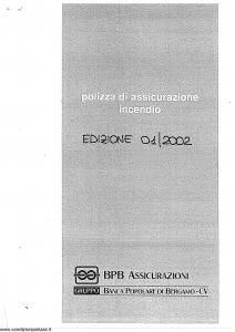 Bpb - Polizza Di Assicurazione Incendio - Modello 893 Edizione 01-2002 [SCAN] [22P]