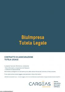Cargeas - Blu Impresa Tutela Legale - Modello 1673 Edizione 15-10-2016 [36P]