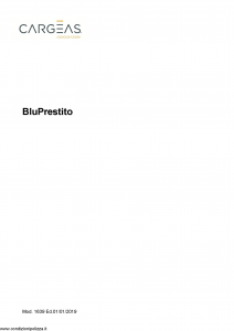 Cargeas - Blu Prestito - Modello 1639 Edizione 01-01-2019 [25P]