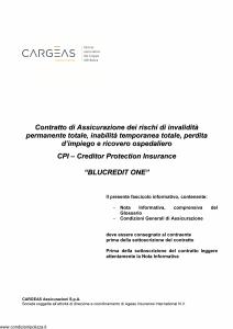 Cargeas - Blucredit One - Modello 1443 Edizione 15-06-2015 [33P]
