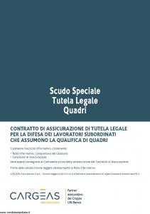 Cargeas - Scudo Speciale Tutela Legale Quadri - Modello 1388 Edizione 01-10-2015 [28P]