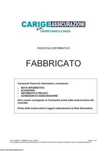 Carige - Fabbricato - Modello FB49101 Edizione 07-2012 [23P]