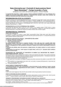 Carige - Incendio e Furto - Modello FB32001 Edizione 07-2012 [17P]