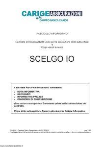 Carige - Scelgo Io - Modello FARCA05 Edizione 01-12-2012 [44P]