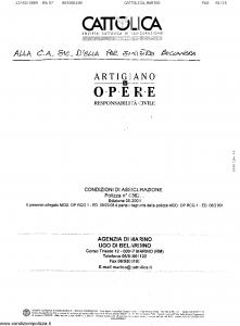 Cattolica - Artigiano Le Opere Responsabilita' Civile - Modello op-rcg-1 Edizione 09-2008 [SCAN] [15P]