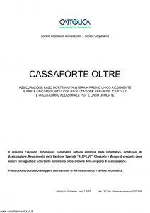 Cattolica - Cassaforte Oltre - Modello cfo 28 Edizione 31-03-2008 [53P]