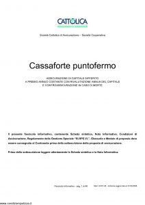 Cattolica - Cassaforte Puntofermo - Modello cfpf 28 Edizione 31-03-2008 [48P]