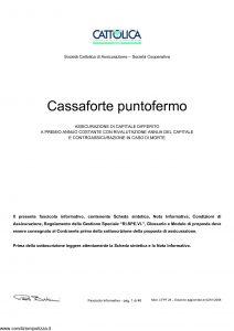 Cattolica - Cassaforte Puntofermo - Modello cfpf-28 Edizione 02-01-2008 [48P]