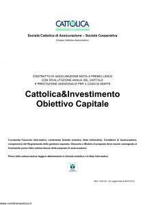 Cattolica - Cattolica & Investimento Obiettivo Capitale - Modello 1934 28 Edizione 20-01-2012 [33P]