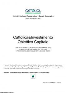 Cattolica - Cattolica & Investimento Obiettivo Capitale - Modello 1934 28 Edizione 31-05-2013 [33P]