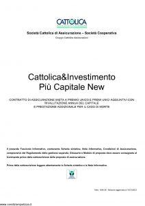 Cattolica - Cattolica & Investimento Piu' Capitale New - Modello 1936 28 Edizione 10-12-2012 [29P]