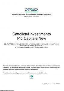 Cattolica - Cattolica & Investimento Piu' Capitale New - Modello 1936 28 Edizione 13-07-2012 [30P]