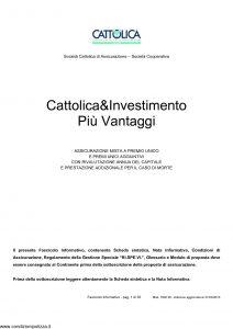 Cattolica - Cattolica & Investimento Piu' Vantaggi - Modello 1902 28 Edizione 31-03-2010 [35P]