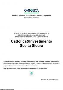 Cattolica - Cattolica & Investimento Scelta Sicura - Modello 1930 28 Edizione 22-11-2011 [30P]