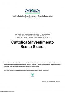 Cattolica - Cattolica & Investimento Scelta Sicura - Modello 1931 28 Edizione 19-01-2012 [35P]