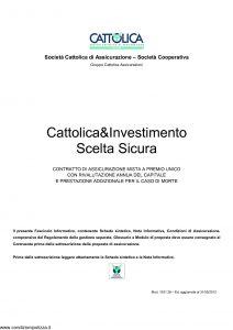 Cattolica - Cattolica & Investimento Scelta Sicura - Modello 1931 28 Edizione 31-05-2012 [33P]