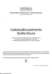 Cattolica - Cattolica & Investimento Scelta Sicura - Modello 1931 28 Edizione 31-05-2014 [32P]