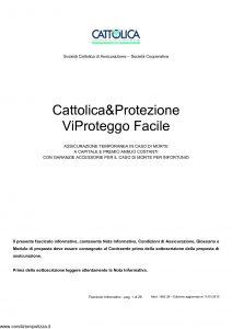Cattolica - Cattolica & Protezione Vi Proteggo Facile - Modello 1892 28 Edizione 11-01-2010 [28P]