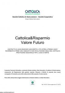 Cattolica - Cattolica & Risparmio Valore Futuro - Modello 1904 28 Edizione 01-12-2010 [44P]