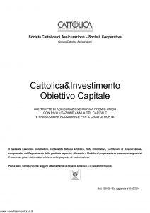 Cattolica - Cattolica E Investimento Obiettivo Capitale - Modello 1934-28 Edizione 31-05-2014 [32P]