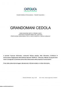 Cattolica - Grandomani Cedola - Modello 1910 28 Edizione 31-03-2010 [35P]