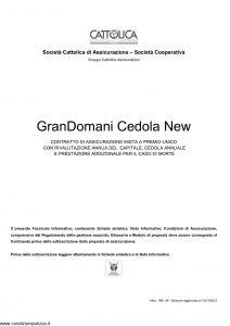 Cattolica - Grandomani Cedola New - Modello 1891 28 Edizione 10-12-2012 [29P]