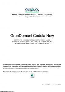 Cattolica - Grandomani Cedola New - Modello 1918 28 Edizione 31-05-2012 [30P]