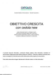 Cattolica - Obiettivo Crescita Con La Cedola New - Modello occn 28 Edizione 12-2005 [35P]
