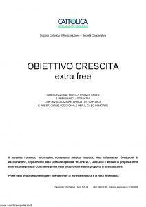 Cattolica - Obiettivo Crescita Extra Free - Modello obcxf 28 Edizione 31-03-2009 [34P]