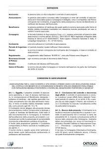 Cattolica - Obiettivo Facile - Modello 191-a Edizione 11-2001 [8P]