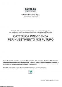 Cattolica Previdenza - Cattolica Previdenza Per Investimento Noi Futuro - Modello dipcp Edizione 01-12-2010 [31P]