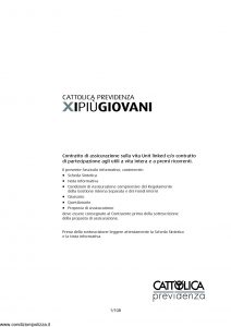 Cattolica Previdenza - X I Piu' Giovani - Modello nd Edizione nd [108P]