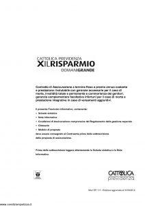 Cattolica Previdenza - X Il Risparmio Domani Grande - Modello ep117 Edizione 31-05-2012 [55P]