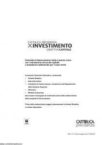 Cattolica Previdenza - X Investimento Obiettivo Capitale - Modello 213 Edizione 31-05-2014 [41P]