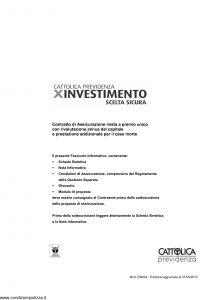 Cattolica Previdenza - X Investimento Scelta Sicura - Modello em004 Edizione 31-05-2013 [36P]