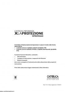 Cattolica Previdenza - X La Protezione Vi Proteggo - Modello 41-02 Edizione 31-05-2014 [31P]