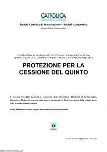 Cattolica - Protezione Per La Cessione Del Quinto - Modello 401031 Edizione 31-05-2012 [18P]