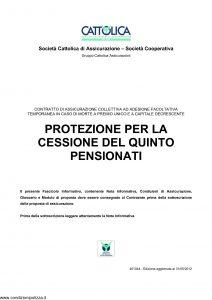 Cattolica - Protezione Per La Cessione Del Quinto Pensionati - Modello 401044 Edizione 31-05-2012 [18P]
