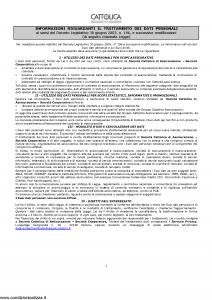 Cattolica - Responsabilita' Civile Della Famiglia - Modello nd Edizione nd [5P]