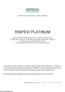 Cattolica - Rispevi Platinum - Modello rsvp-28 Edizione 27-05-2009 [37P]