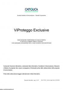 Cattolica - Vi Proteggo Exclusive - Modello vpe 28 Edizione 31-03-2009 [37P]